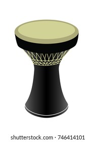 Darbuka Icon Vector - Percussive musical instrument