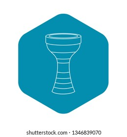 Darbuka, musical instrument icon. Outline illustration of darbuka, musical instrument vector icon for web