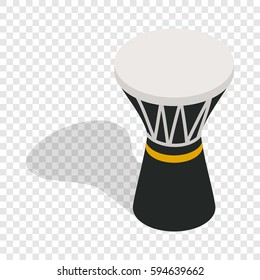 Darbuka, percussive musical instrument isometric icon 3d on a transparent background vector illustration