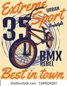 Dare to try the best extreme urban sport -Ride the the BMX rebel, best in town.