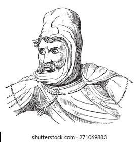 Darius, vintage engraved illustration.