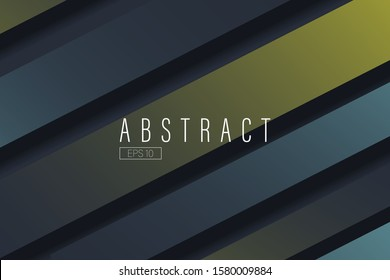Dark abstract background with black, blue and yellow geometric figures. Minimal modern design. Hipster modern geometric abstract background. Vector Eps 10.