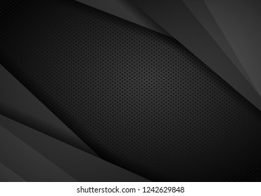 Dark abstract background, texture with diagonal lines, vector illustration.