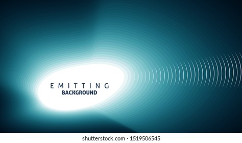 Dark abstract green blue emitting background with copyspace. Vector graphic pattern