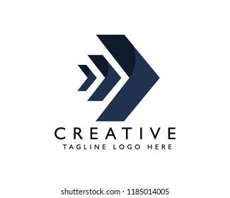 Dark arrow company   vector logo   Arrow icon   Template