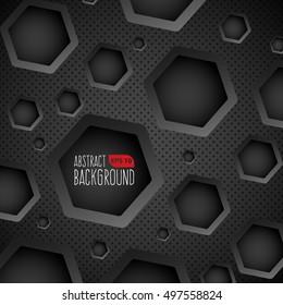 Dark Background With Hexagonal Holes