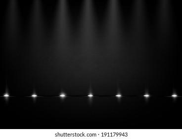 Dark background with lights. Vector eps 10