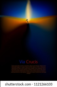 Dark background with the theme of Golgotha ​​and the cross