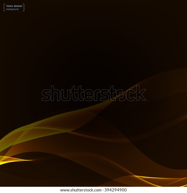 Dark Background Yellow Gold Waves Colorful Stock Image