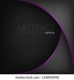 Dark black background with purple pink line curve with space for design