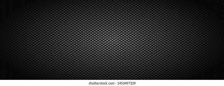 Dark black  Carbon fiber Geometric grid background. Modern dark abstract vector texture.