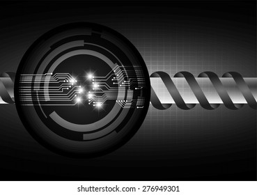 Dark black color Light Abstract Technology background for computer graphic website internet. circuit. infographics. star
