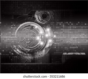 Dark black color Light Abstract Technology background for computer graphic website internet and business. circuit. vector illustration. infographics. motion move blur.neon. pixel.