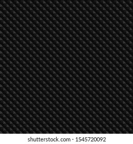 Dark black Geometric grid background Modern dark abstract seamless texture