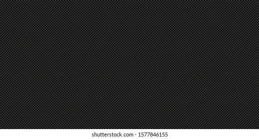 Dark black Geometric grid background Modern dark abstract vector seamless texture