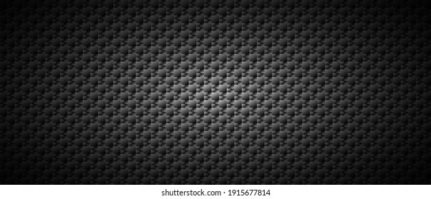 Dark black Geometric grid background Modern dark abstract vector texture