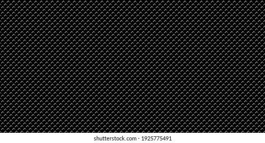 Dark black Geometric grid Carbon fiber background Modern dark abstract seamless vector texture