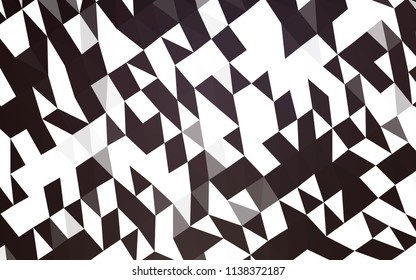 Dark Black vector abstract mosaic background. A completely new color illustration in a vague style. The elegant pattern can be used as part of a brand book.
