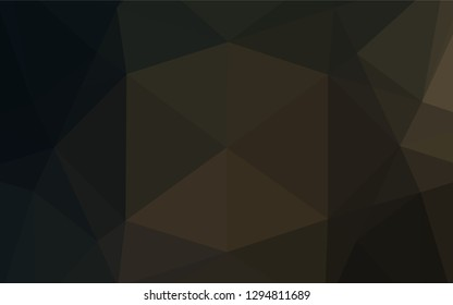 Dark Black vector abstract mosaic background. A vague abstract illustration with gradient. The textured pattern can be used for background.