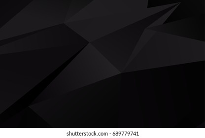 Dark Black vector abstract mosaic pattern. A sample with polygonal shapes. A completely new template for your business design.