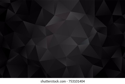 Dark Black vector abstract polygonal template. Glitter abstract illustration with an elegant design. A completely new template for your business design.