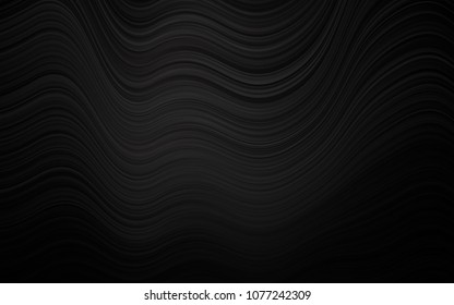 Dark Black vector background with curved circles. Shining crooked illustration in marble style. A completely new marble design for your business.