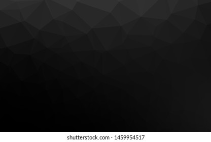 Dark Black vector blurry triangle template. Triangular geometric sample with gradient.  Brand new design for your business.