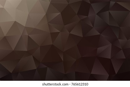 Dark Black vector blurry triangle template. A vague abstract illustration with gradient. Brand-new style for your business design.