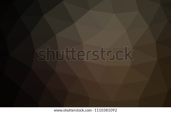 Dark Black vector hexagon mosaic triangle mosaic. Modern geometrical abstract illustration with gradient. A completely new design for your business.