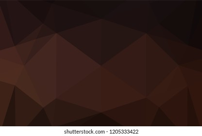 Dark Black vector low poly layout. Brand new colored illustration in blurry style with gradient. Brand new style for your business design.