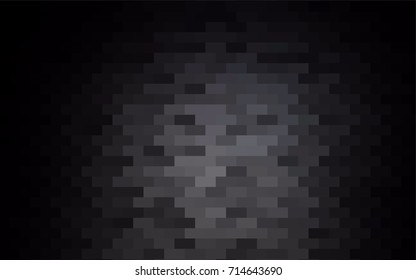Dark Black vector low poly background. A sample with a polygonal design. Illustration in polygonal style with repeating squares