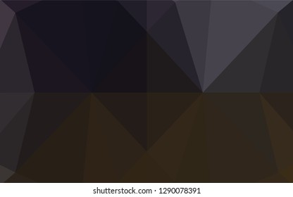 Dark Black vector polygon abstract backdrop. A sample with polygonal shapes. A completely new design for your business.