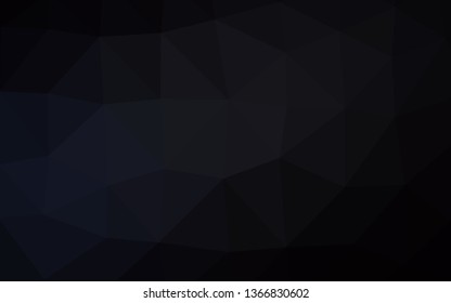 Dark Black vector polygonal background. Brand new colorful illustration in with gradient. Brand new style for your business design.