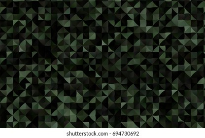 Dark Black vector polygonal template. Brand-new colored illustration in blurry style with gradient. Triangular pattern for your business design.