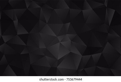 Dark Black vector triangle mosaic template. Glitter abstract illustration with an elegant design. The elegant pattern can be used as part of a brand book.