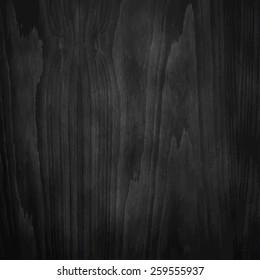 Dark Black Wood Texture. Vector illustration.