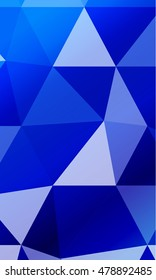 Dark blue background image from the polygonal elements. Blend. Vector illustration. Abstraction. For design, presentations, banners.