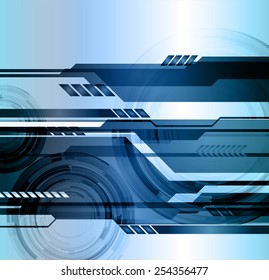 Dark blue color Light Abstract Technology background for computer graphic website internet.