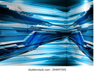 dark blue color Light Abstract Technology background for computer graphic website internet and business.circuit. vector illustration.