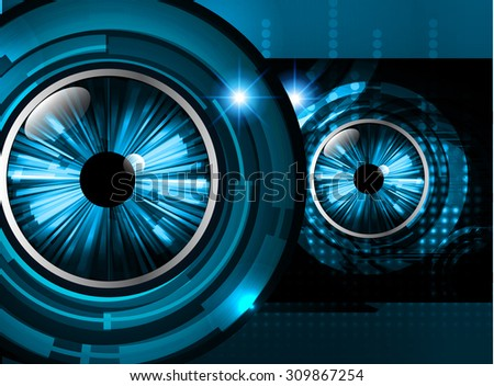 Dark Blue Color Light Abstract Technology Stock Vector Royalty Free
