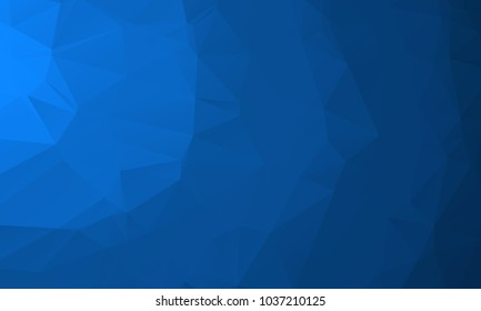 Dark Blue Color Polygon Background Design, Abstract Geometric Origami Style With Gradient