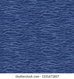 Dark blue denim marl seamless pattern. Jeans texture fabric textile background. Vector cotton melange canvas all over print. Water Texture garment effect, Traditional vintage raw effect. Vector Eps 10