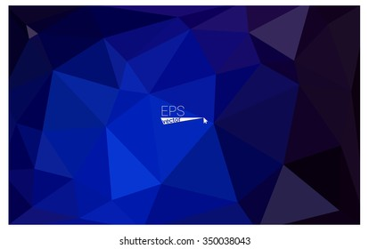 Dark blue geometric rumpled triangular low poly origami style gradient illustration graphic background. Vector polygonal design for your business.