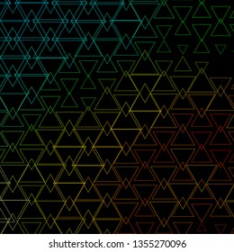 Dark Blue, Green vector backdrop with lines, triangles. Gradient triangles in abstract style on simple form. Best design for posters, banners.