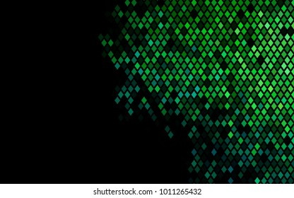 Dark Blue, Green vector background of rectangles and squares. Style quilt and blanket. Geometrical rectangular pattern. Repeating pattern with rectangle shapes.
