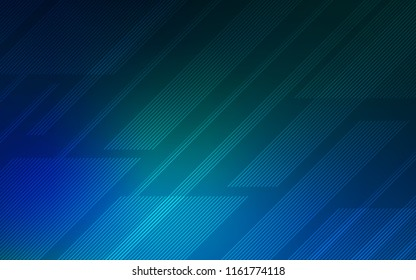 Dark Blue, Green vector background with straight lines. Modern geometrical abstract illustration with Lines. Smart design for your business advert.