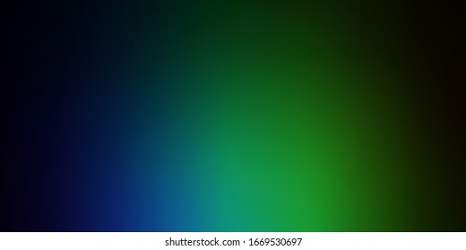Dark Blue, Green vector blurred colorful pattern. New colorful illustration in blur style with gradient. Best design for your business.