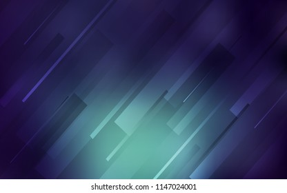 Dark Blue, Green vector cover with stright stripes. Glitter abstract illustration with colored sticks. The pattern for ad, booklets, leaflets.