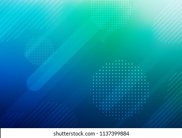 Dark Blue, Green vector layout with flat lines and dots. Decorative shining illustration with lines, dots on abstract template. The pattern can be used as ads, poster, banner for commercial.