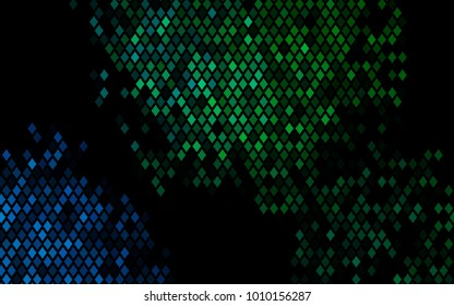 Dark Blue, Green vector polygonal illustration consisting of rectangles. Rectangular design for your business. Creative geometric background in origami style with gradient.